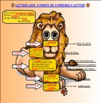 Friendly Letter Lion PDF