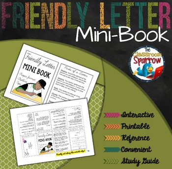 Friendly Letter Mini-Book (A Perfect Addition to an ELA Interactive Notebook)