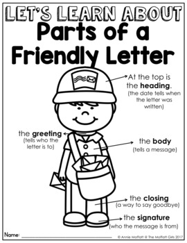 Friendly Letter NO PREP Packet