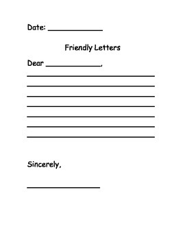 Friendly Letter Packet