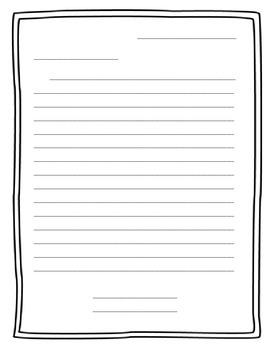 Free Printable Friendly Letter Template from ecdn.teacherspayteachers.com