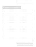 Friendly Letter Paper with writing lines