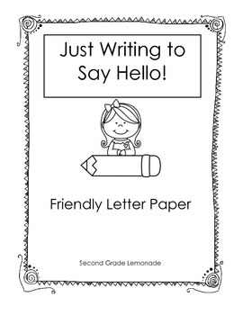 friendly letter paperwriting templates