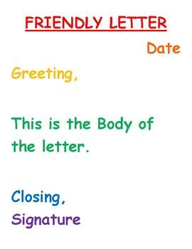 Friendly Letter Poster