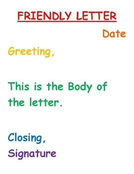 Friendly Letter Poster