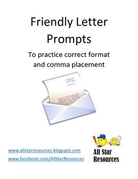 Friendly Letter Prompts