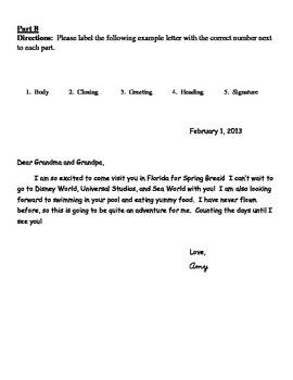 Friendly Letter Quiz