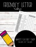 Friendly Letter Rubric