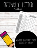 Friendly Letter Rubric