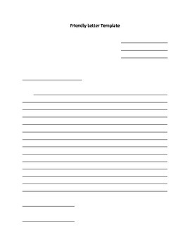 Friendly Letter Template