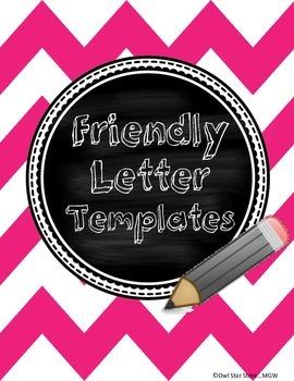 Friendly Letter Template Freebie