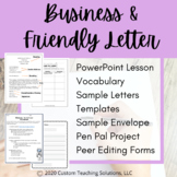 Friendly Letter Template & Vocabulary
