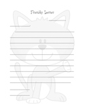 Friendly Letter Template on Cat Stationary