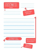 Friendly Letter Template with Labels