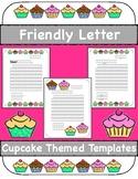 Friendly Letter Templates, Cupcake Theme!