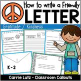 Friendly Letter Templates Gratitude / Kindness Version