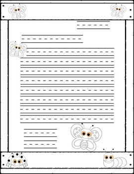 Friendly Letter Templates, Insect Themed