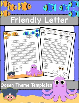 Friendly Letter Templates Ocean Theme By First Grade Fundamentals