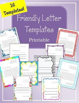 Friendly Letter Templates!!  Printable!!