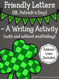Friendly Letter Templates {St. Patrick's Day} ~ A Writing Activity