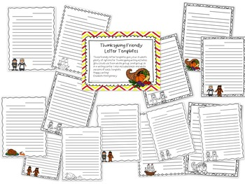 Friendly Letter Templates Thanksgiving