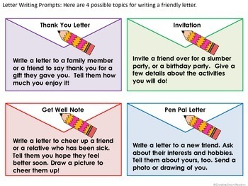 Friendly Letter Writing By Growing Smart Readers Tpt