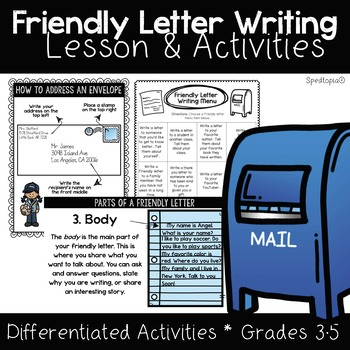 Differentiated Friendly Letter Writing Teaching Resources Teachers