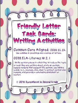 Friendly Letter: Writing Prompts
