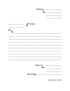 Friendly Letter Writing Aid