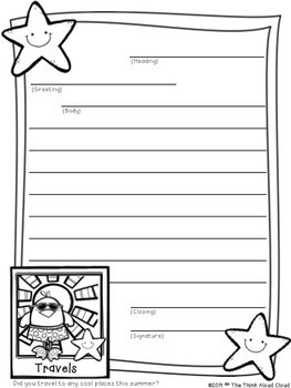 Friendly Letter Writing {August / Back-to-School} ~ Templates