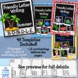 Friendly Letter Writing Templates {Summer Months / Back-to