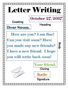 Friendly Letter Writing Example