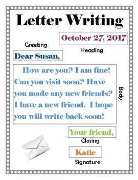 Example Of Writing A Letter from ecdn.teacherspayteachers.com