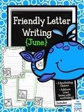 Friendly Letter Writing {June} ~ Templates