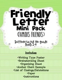 Friendly Letter Writing ~ Mini-Pack