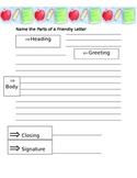 Friendly Letter Writing Organizer