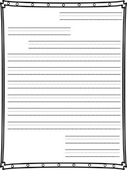Friendly Letter Writing Paper By Second Grade Wonder Tpt