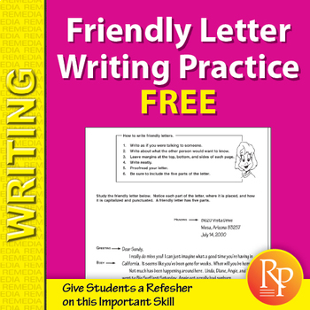 Friendly Letter Writing Practice {Freebie}