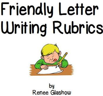 Friendly Letter Writing Rubrics
