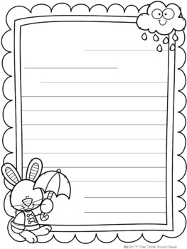 friendly letter writing spring templates by the think aloud cloud