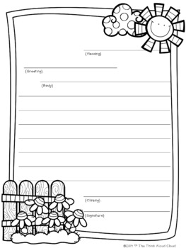 Writing A Friendly Letter Template from ecdn.teacherspayteachers.com
