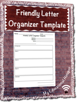 Friendly Letter Writing Template