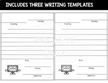 Friendly Letter Writing Templates