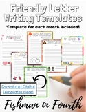 |Distance Learning| Friendly Letter Writing Templates (Pri