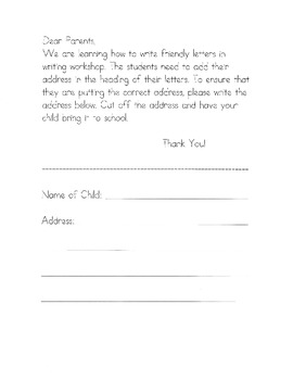 Friendly Letter Writing Workshop