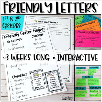 Friendly Letter Writing Workshop Unit