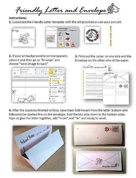 Friendly Letter Writing and Envelope Template