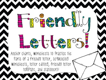 friendly letter anchor chart i pinned it and then i did friendly letter writing everything you need by 794