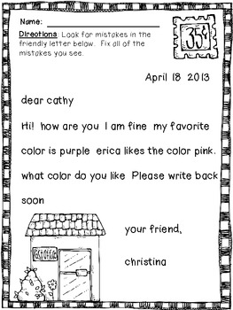 Friendly Letter Writing everything you need } by Organized Chaos