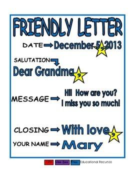 Friendly Letter blue